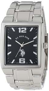 U.S. Polo Assn. Classic Men's USC80035 Rectangular Black Dial Metal Link Watch
