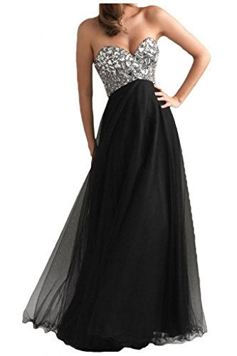 DLFASHION Women's Strapless Empire Tulle Long Prom Dress Size 18