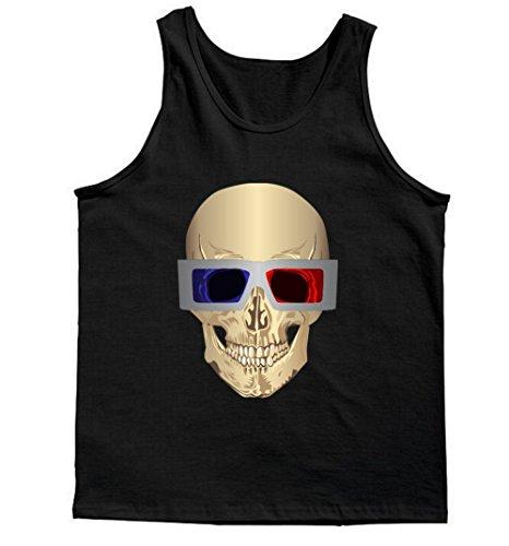 Skull 3D Glasses Tank Top