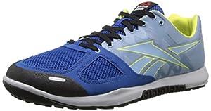 Reebok Men's Crossfit Nano 2.0 Training Shoe, Impact Blue/Ghost Blue/Steel/Hi Vis Green/Black, 7 M US