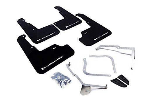 Rally Armor 15+ Subaru WRX & STi Sedan Only UR Black Mud Flap w/ White Logo (Subaru Wrx Mud Flaps compare prices)