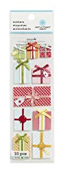 Martha Stewart Crafts Stickers, Bright Layered Presents