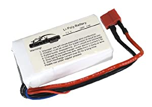 7.4V 1800mAh Li-Poly Airsoft Battery With Deans Connector