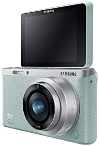 Samsung NX Mini 20.5MP CMOS Smart WiFi & NFC Compact Interchangeable Lens Digital Camera with 9mm Lens and 3