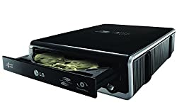 LG Super Speed USB 24X DVD / 48X CD External Drive Reader / Rewriter with Silent Play, LightScribe & SecurDisc for all Netbooks, Laptops, Notebooks or Desktop Computers - Fastest Portable Unit - Reads All Formats / DVD-RW / DVD+RW / CD-ROM / CD-RW - with Extra Durable Protection for Transport - Compatible with Windows Or Mac Systems