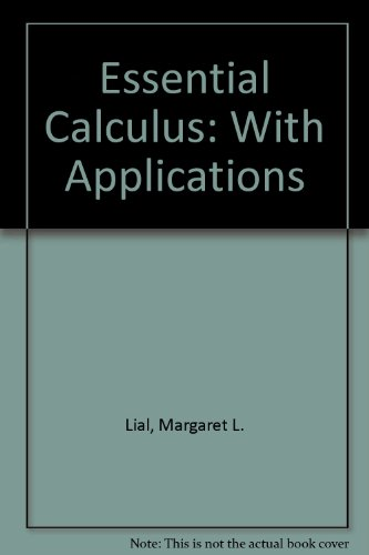 Essential Calculus: With Applications
