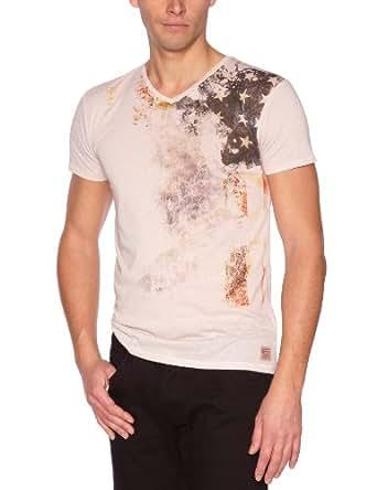 Freeman T.Porter - Taavi - T-Shirt - Imprimé - Homme - Blanc (Dew) - XS