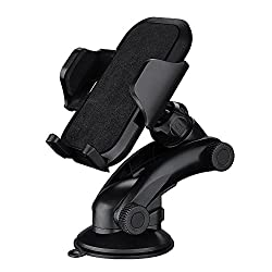 Mpow Grip Pro 2 Dashboard Car Mount Adjustable Windshield Holder Cradle with Strong Sticky Gel Pad for iPhone 6s Plus 6 5s, Samsung Galaxy S6 Edge S5, etc.