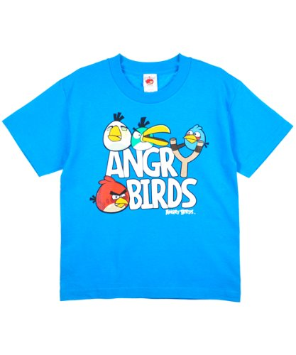 "Angry Birds ""Slingshot"" T-Shirt (Sizes 8 – 20) – turquoise, 14/16"
