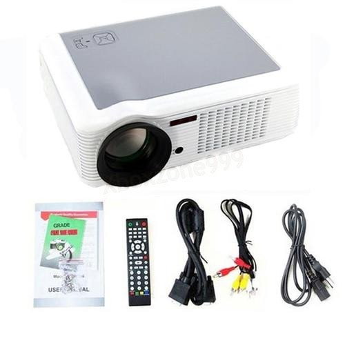 HD Home Theater Multimedia LCD Projector 1080P HDMI USB TV DVD WII