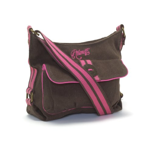 Animal Ladies Cross Body Hip Bag Shoulder Bag - Medium Lilibeth Brown Pink