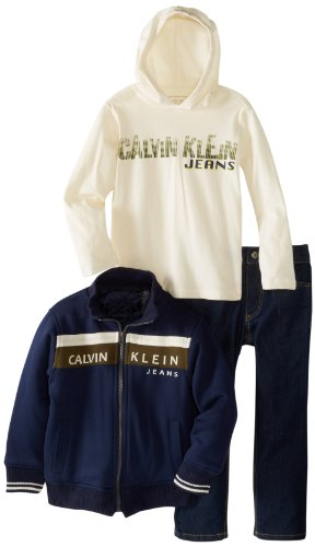 Calvin Klein Boys 2-7 Jacket With Hooded Tee And J