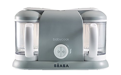 BEABA Babycook Plus 4 in 1 Steam Cooker and Blender, 9.4 cups, Dishwasher Safe, Cloud (Baby Food Steam And Blender compare prices)