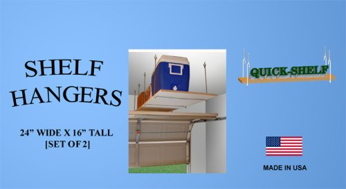 Shelf Hangers - 24 Wide X 16 Tall 4 PackB001D73SKS