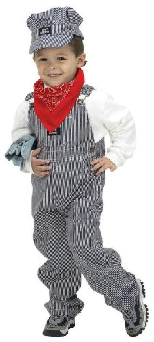 Jr. Train Engineer Costume - Large front-532663