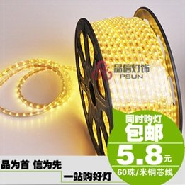 Pinxin Led Lights Waterproof 3528 Smd Led With 60 Beads 220V Highlight Dark Recessed Lights Flexible Light Strip Led Light Bar
