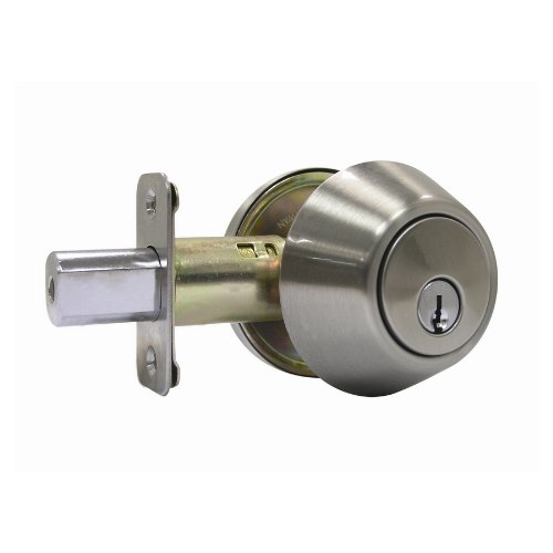 Gatehouse Satin Nickel Residential Single-Cylinder Deadbolt front-1064041