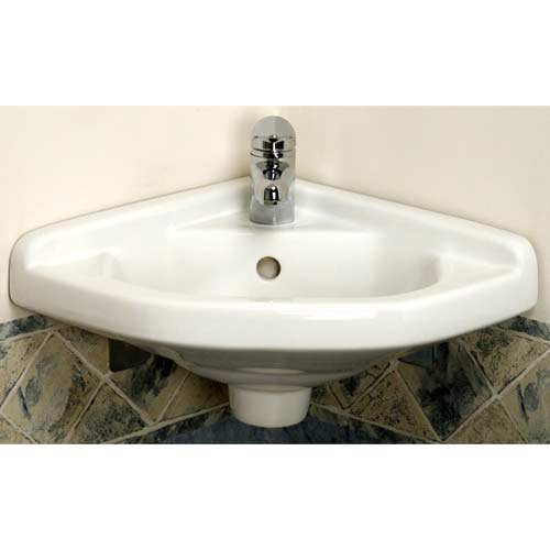 Cheap Barclay 4-750WH 14-Inch Corner Wall-Hung Basin, White