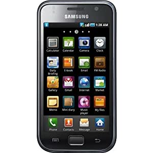Samsung I9000 Galaxy S Unlocked GSM Smart Phone with 5 MP Camera, Android OS, Touchscreen, Wi-Fi, GPS and MicroSD Slot - Unlocked Phone - No Warranty - Black