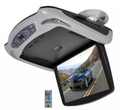 Pyle Plrd145 13.3-Inch Roof Mount Monitor Multimedia System With Built-In Dvd Player, Usb/Sd Readers And 3 Color Skins