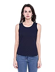 Fabindia Women's Body Blouse Shirt (10425945_Navy_X-Large)