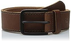 Haggar Men's 40MM Retro Belt, Brown, 42