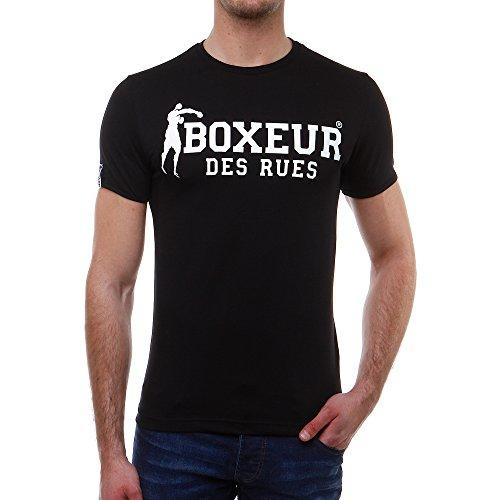 Boxeur Des Rues Série Exclusive T-shirt con Stampa sul Dietro e sul Davanti, Nero, M