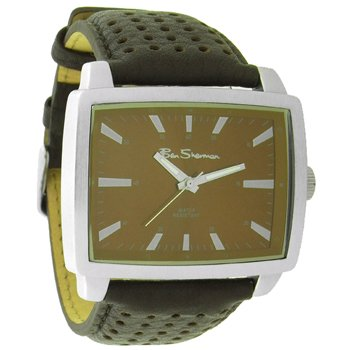 Ben Sherman Gents R934 Brown Faux Leather Strap With Brown Rectangular Dial Watch