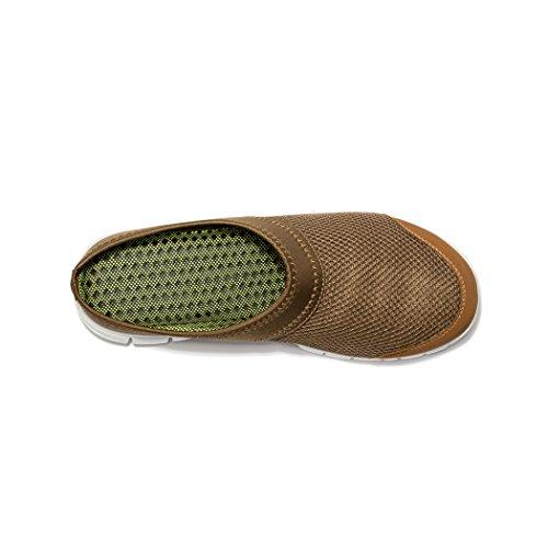 Kensbuy Men's Breathable Summer Mesh Sneakers Leisure Closed Toe Slippers (37 EU (6 B(M) US Women), brown)