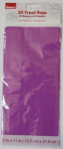 Purple Treat Bags with Twist Ties