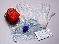 フェイスシールドマスク 応急救護用 人工呼吸用 マスク ポシェット入り 20個