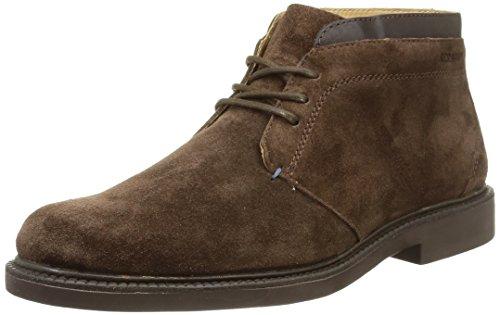 Sebago Turner Chukka - Stivaletti alla caviglia, imbottitura leggera uomo, Marrone (Brown (Dark Brown Suede/Leather)), 44 EU