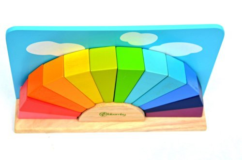 Bloomby Imagine a Rainbow Wooden Blocks Educational Toys (Learning, Developmental Toy for Baby, Toddlers, Preschoolers) - 1
