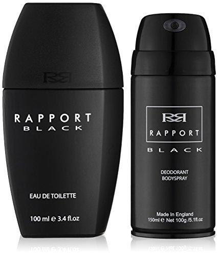 Eden Classics Rapport Black 100ml Eau de Toilette + 150ml Body Spray Set regalo per lui, 1er Pack (1x 100ml)