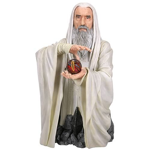 Buy Low Price Gentle Giant Gentle Giant Lord of the Rings Saruman Bust with Light-Up Palantir Figure (B001UR6QFK)