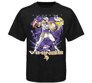 Buy Liquid Blue Minnesota Vikings QB Short Sleeve T-Shirt Large by Liquid Blue