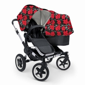 Bugaboo-Donkey-Mono-Stroller-WITH-Andy-Warhol-Fabric-Bugs-Black-Base