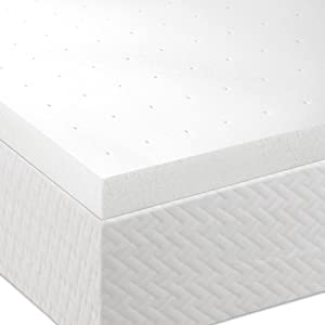 "Lucid® by Linenspa 2"" Ventilated Memory Foam Mattress Topper 3-Year Warranty"