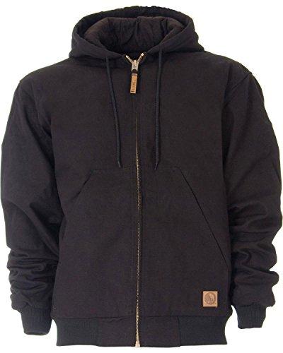Berne Men's Original Hooded Jacket, Black, Large/Regular (Work Insulated Jacket compare prices)