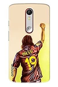 Omnam Messi Back In Jersy Printed Designer Back Cover Case For Motorola Moto X Force