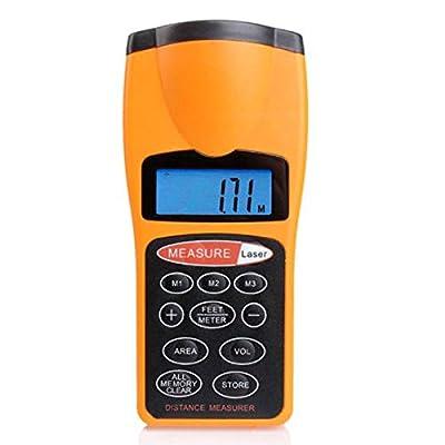 TOOGOO(R)Ultrasonic Tape Measure Distance Meter & Laser Pointer Digital Tape Measure Feet