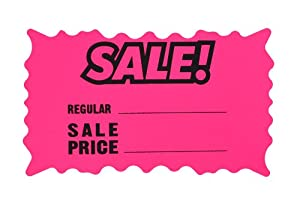 tag sale signs eBay