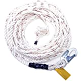 Guardian Fall Protection 11329 VL58-25 Standard 5/8 Inch Thick 3 Strand White Polydac Rope with Snaphook End, 25-Foot