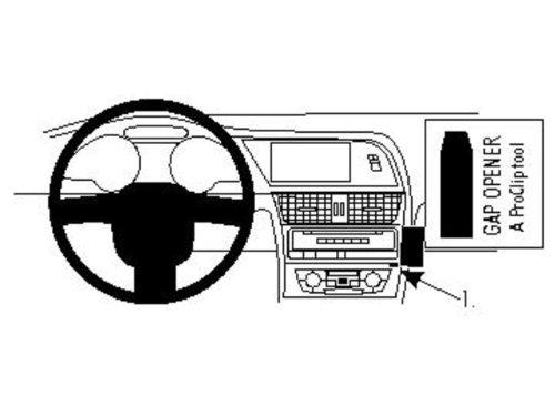 Brodit 854063 ProClip Kfz-Halterung für Audi A4 Avant 08-09 (Angled Mount) schwarz