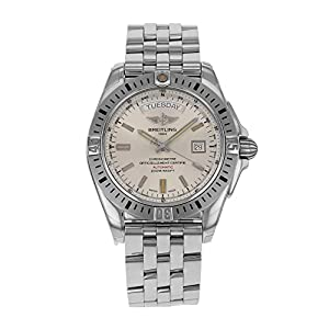 Breitling Galactic 44 A45320 Automatic Silver Day Date Compass A45320B9/G797