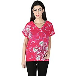 Isadora Casual Short Sleeve Floral Print Women's Top