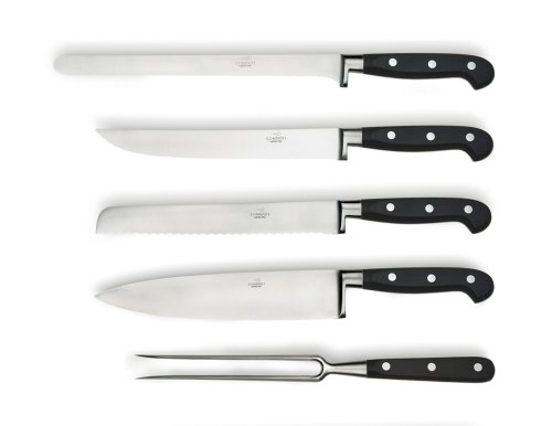 Consigli 5-Piece Resin Handle Kitchen Knife With Leather Case