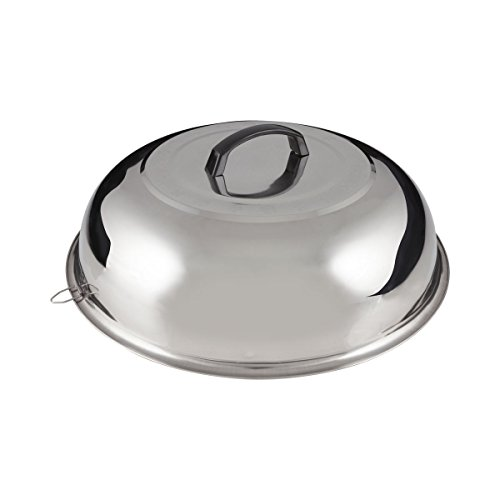 FortheChef's 15-3/8'' Stainless Steel Wok Cover (Fits 16'' Diameter Woks) (Wok Cover 16 compare prices)