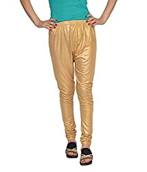 Fashion205 Women's Leggings (shimmer-gold-L_Gold_Large)