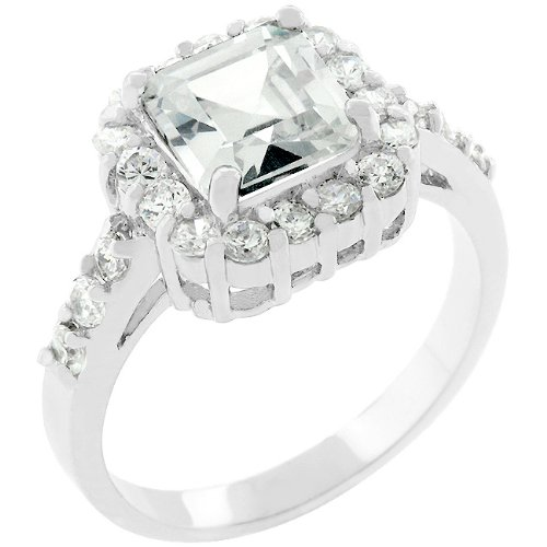 Anniversary 14k White Gold Plated 4.2 CT CZ Ring Size 5